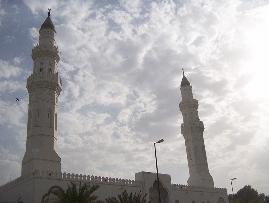 نمایی از مسجد قبا - آسمونی