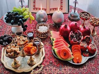 خواص میوه ها و مواد غذایی مخصوص شب یلدا