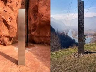 شیء مرموز صحرای یوتا از تپه های رومانی سر درآورد/ماجرای این شیء چیست؟