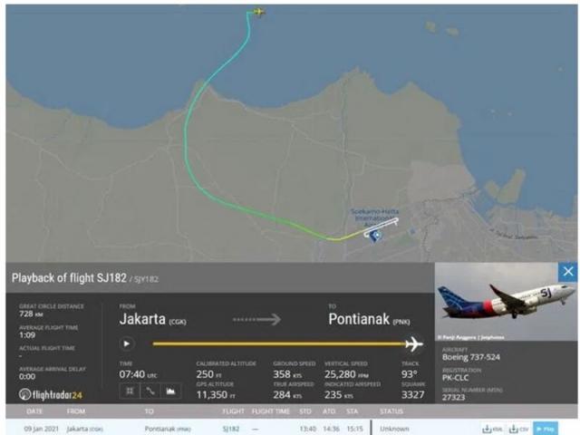 هواپیمای مسافربری اندونزیایی در اقیانوس سقوط کرد