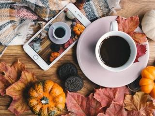عکس پروفایل فنجان قهوه و پاییز