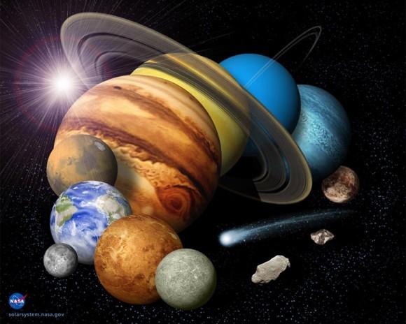 منظومه شمسی ناسا
