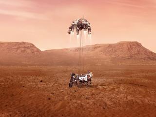 مریخ نورد پشتکار با موفقیت بر روی سطح مریخ فرود آمد + اولین تصاویر
