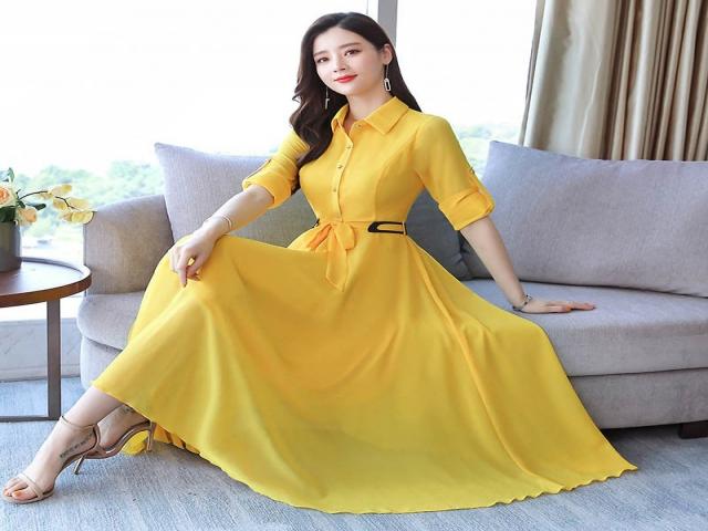 مدل لباس رنگ زرد ؛ رنگ سال 2021 و 1400