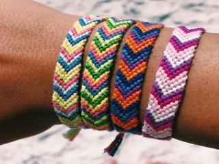 بافت دستبند دوستی + الگوی دستبند دوستی