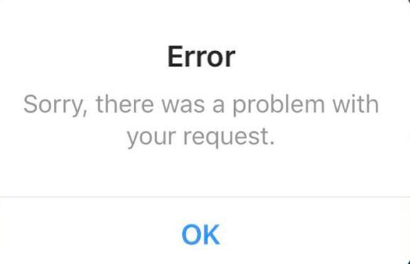 خطای اینستاگرام