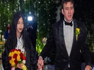 نیکلاس کیج برای پنجمین بار ازدواج کرد + عکس