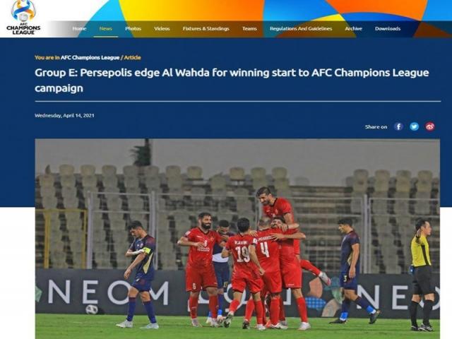 واکنش کنفدراسیون فوتبال آسیا به پیروزی پرسپولیس