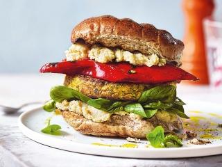 همبرگر گیاهی ، یک غذای نونی ساده و خوشمزه