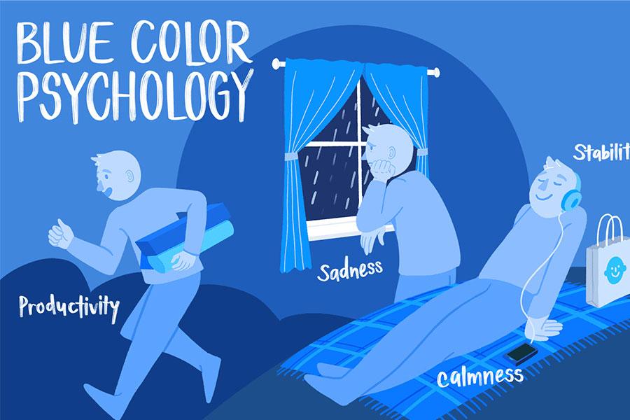 معنی رنگ آبی