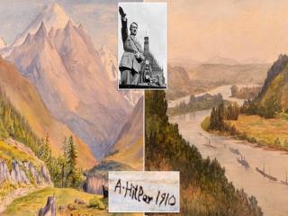 آثار نقاشی هیتلر و روحیه لطیف وی