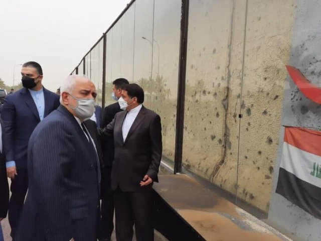 حضور ظریف در محل شهادت سردار سلیمانی و جواب به ماجرای فایل صوتی