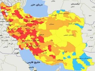 تهران و کرج در وضعیت قرمز کرونا قرار گرفت