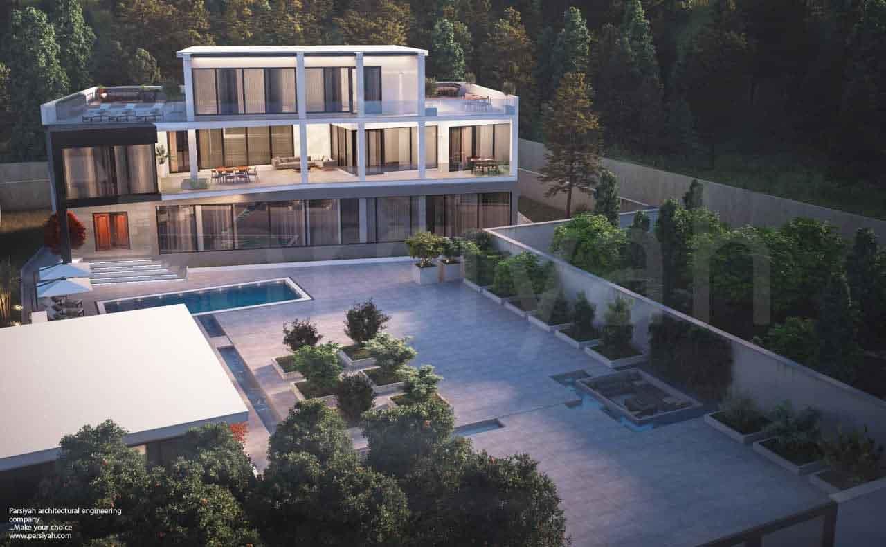 پروژه ویلای شخصی 1380 متری تریبلکس، به سبک معماری مدرن واقع در نوشهر، مزگاه...