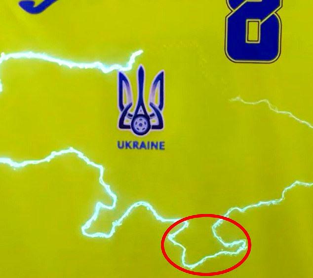 نقشه کشور اوکراین با طرح نقشه کریمه