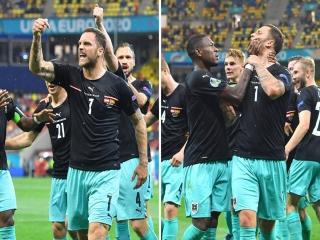 جنجال جدید در یورو : شادی گل نژادپرستانه در بازی اتریش