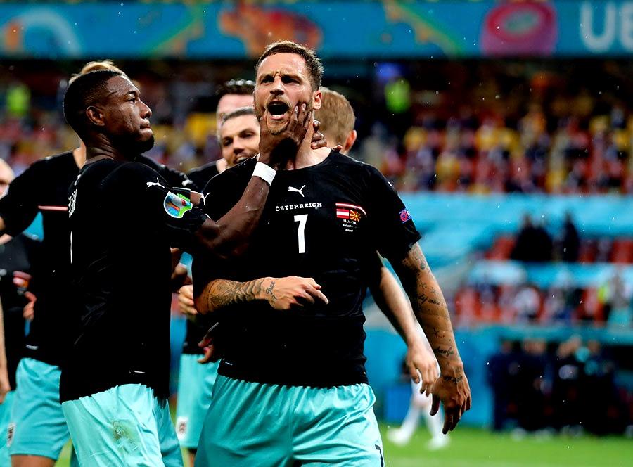 شادی گل نژادپرستانه در بازی اتریش