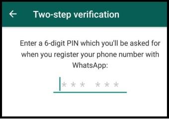 تایید دو مرحله ای در واتساپ