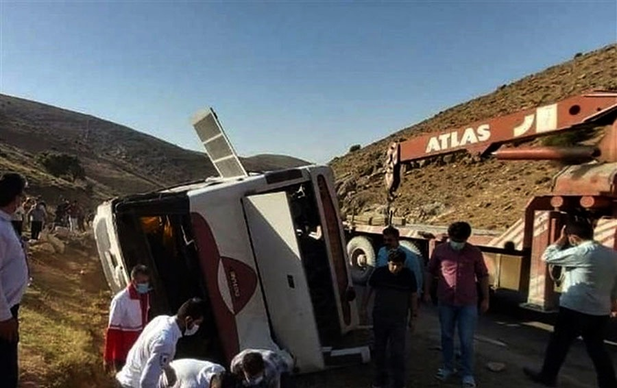 بازداشت راننده اتوبوس حامل خبرنگاران