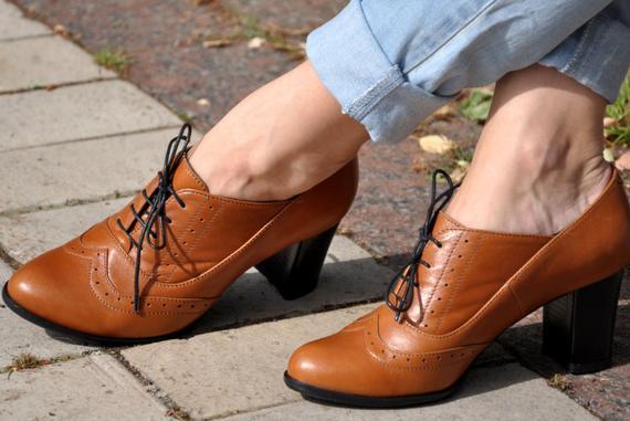 کفش پاشنه بلند مدل اکسفورد