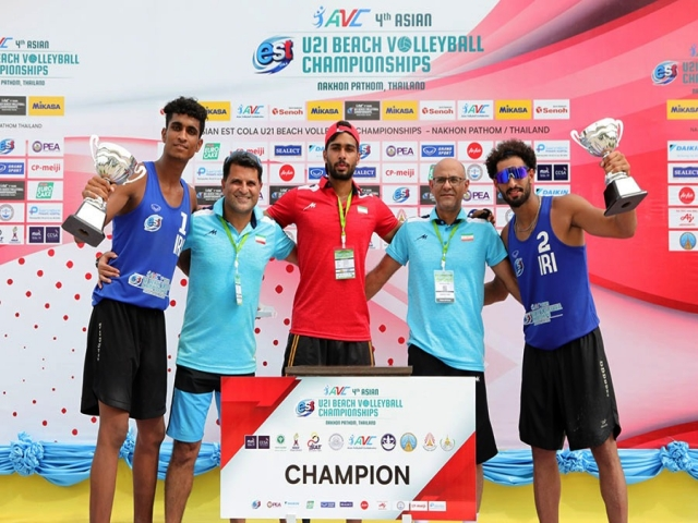 ایران قهرمان مسابقات زیر 21 سال والیبال ساحلی آسیا شد