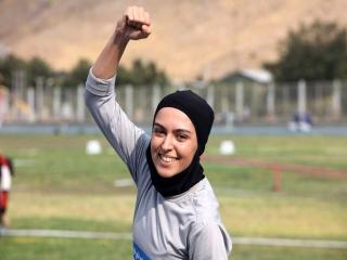 فرزانه فصیحی قهرمان جایزه بزرگ دوی 100 متر زنان شد