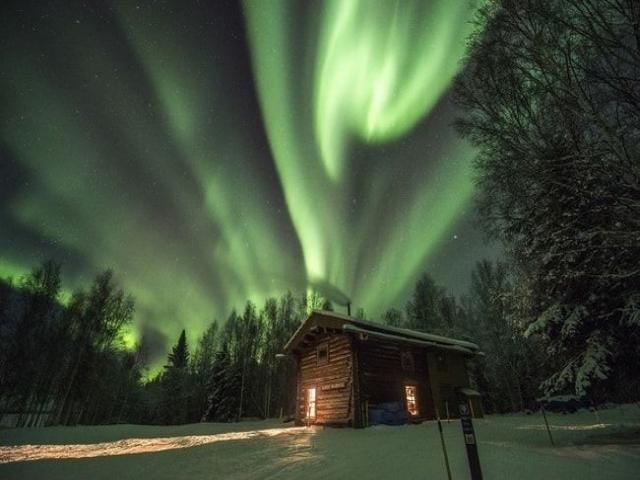 جدیدترین عکس شب قطبی در فنلاند