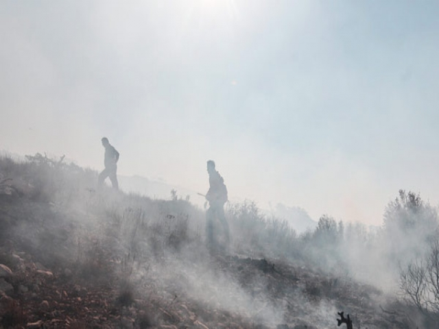 آتش سوزی در مناطق جنگلی درازنو استان گلستان ادامه دارد