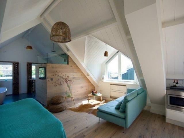 ایده های خلاقانه برای اتاق زیر شیروانی + عکس
