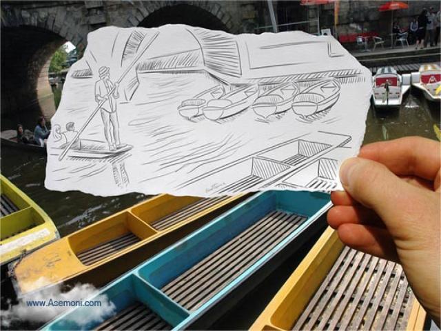تلفیق نقاشی با عکس
