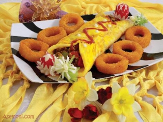 رولت گوشت و سبزیجات