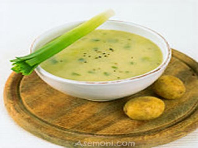 سوپ تره فرنگی با سیب زمینی
