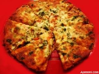 پیتزا استیک با گشنیز