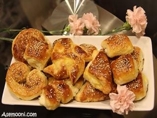 طرز تهیه شیرینی گل محمدی (دانمارکی)