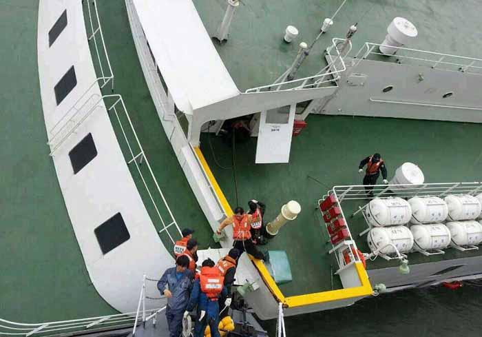 غرق شدن کشتی کره جنوبی