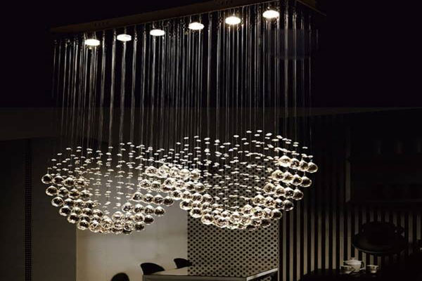 Photos of the model super stylish and luxurious catering chandelier (14)
