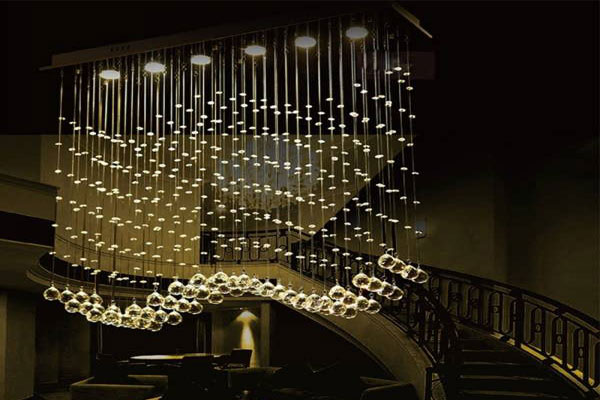 Photos of the model super stylish and luxurious catering chandelier (19)