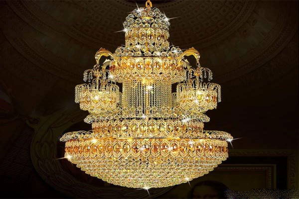 Photos of the model super stylish and luxurious catering chandelier (23)