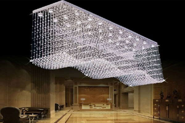 Photos of the model super stylish and luxurious catering chandelier (3)