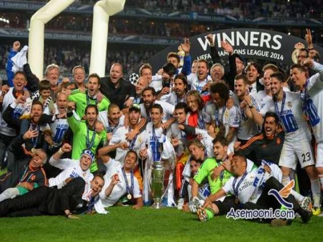 دهمین قهرمانی رئال مادرید در لیگ قهرمانان اروپا + عکس