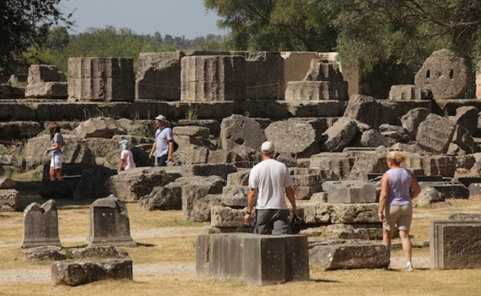 > on July 26, 2012 in Olympia, Greece.