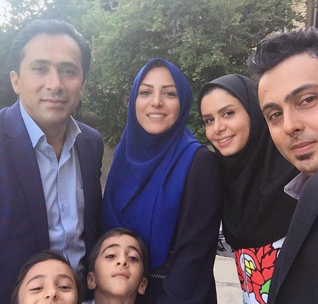 نجمه جودکی و همسرش در کنار المیرا شریفی مقدم مجری شبکه خبر و همسرش