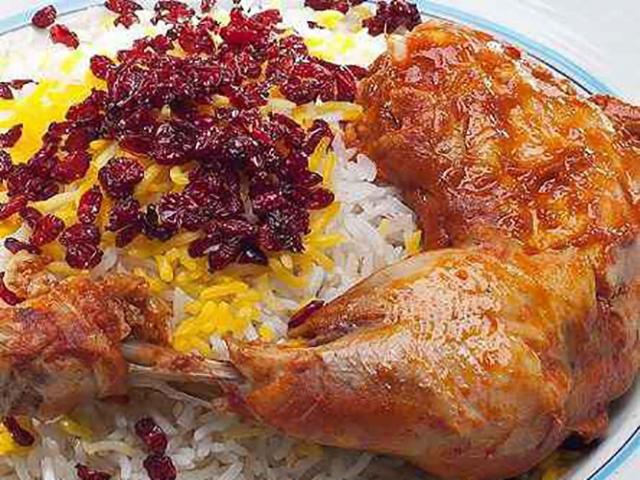 طرز تهیه زرشک پلو با مرغ نذری