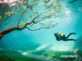 تصاویری دیدنی از پارک زیر آب در اتریش