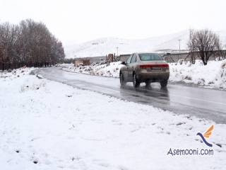 بارش برف و باران در محورهای 4 استان