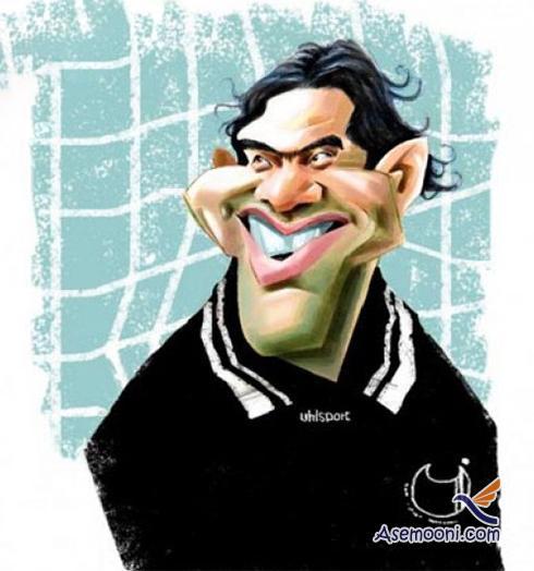 Cartoons Iranian footballers(13)