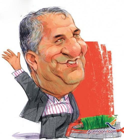 Cartoons Iranian footballers(6)