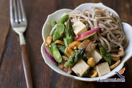 Noodles and peanut salad