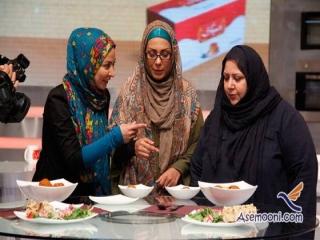 مسابقه آشپزی دو بازیگر روی آنتن تلویزیون