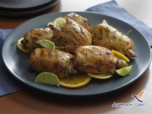 طرز تهیه خوراک مرغ و آویشن